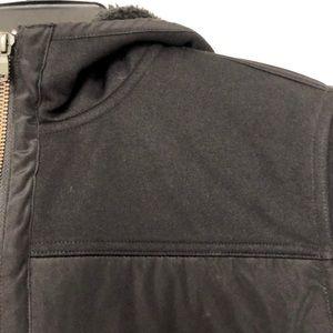 Banana Republic Jackets & Coats - Banana Republic Mens Tall Black Sherpa Coat Medium